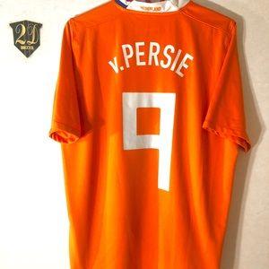 🕊 Nike Nederland #9 v.Persie 08/09 Soccer Jersey
